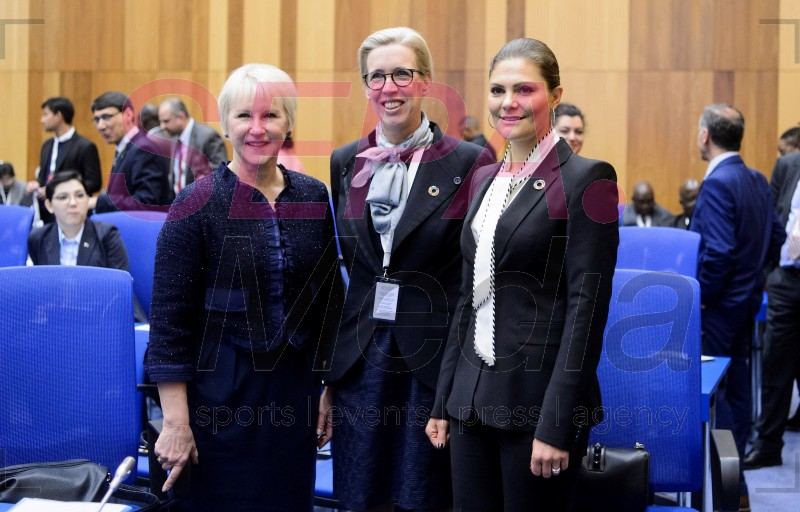 20181128 Crown Princess Victoria Of Sweden Attends Ministerial Conference On Nuclear Science and Technology 2018